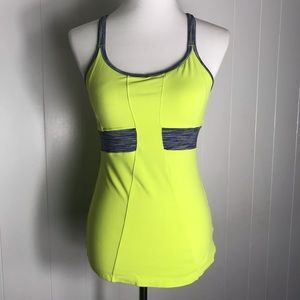 Athleta Tank Top Athletic Workout Lime Green Small